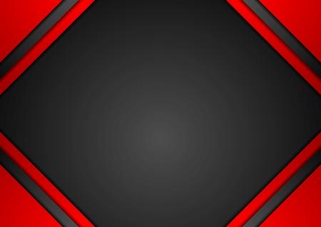 fondo elegante: El rojo y el negro fondo de arte corporativa. diseño del vector Vectores