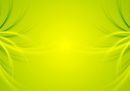 abstract green: Abstract green shiny waves background Illustration