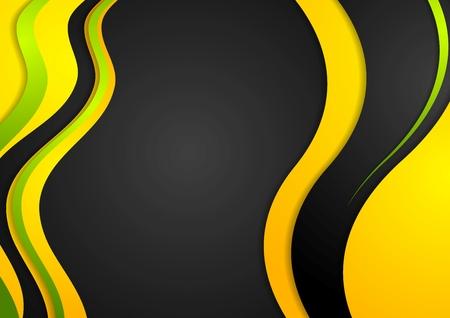 bright: Bright waves on dark background Illustration