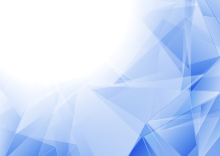 Tech polygonal blue white abstract background