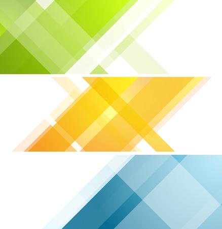 Minimal tech geometric banners. art design illustration