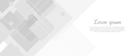 Abstract grey tech banner with squares