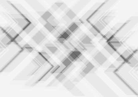 Grey tech abstract modern background. Vector design Vettoriali