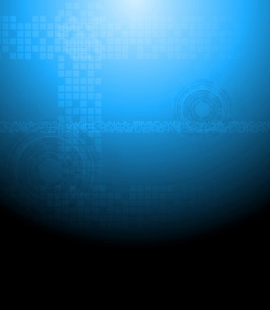Dark blue tech abstract background. Vector design