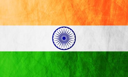 indian flag: Grunge illustration of Republic of India flag. Vector background Illustration