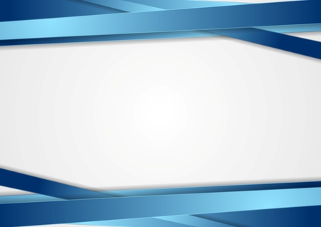 Tech abstract background with blue stripes. Vector design 일러스트