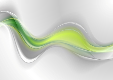 waves abstract: Smooth green grey abstract waves design. Vector background
