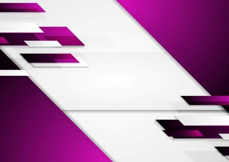 violeta: Resumen contraste fondo violeta geométrica. Diseño de la tecnología de vector Vectores