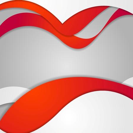 contraste: Dise�o ondulado rojo gris degradado contraste. Vector de fondo