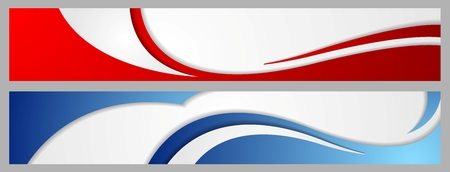 wavy background: Abstract corporate waves bright banners. Vector design