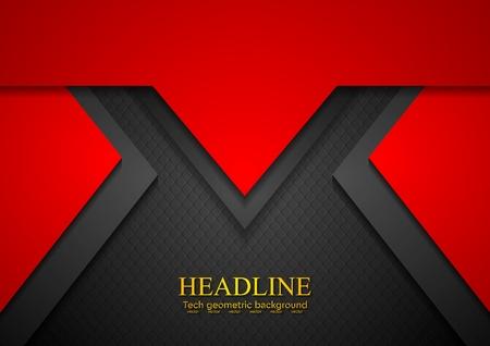 Red concept art tech background. Vector design