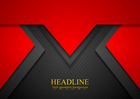 Red concept art tech background. Vector design