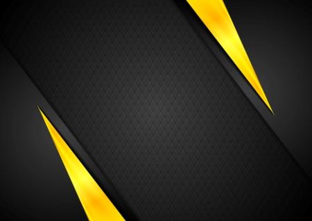 amarillo y negro: Contraste oscuro negro fondo amarillo. Diseño vectorial Vectores