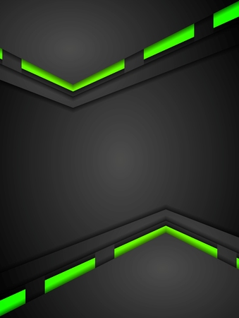 green backgrounds: Green and black contrast gradients tech design. Vector background