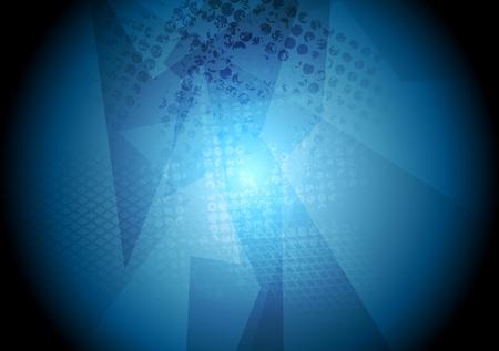 geometric background: azul del grunge textura del dise�o geom�trico oscuro. Vector de fondo de alta tecnolog�a