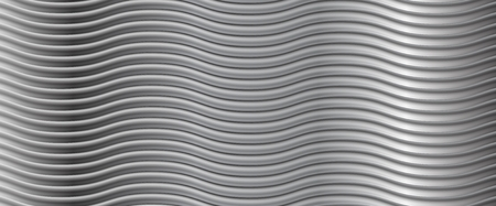 metallic background: Abstract metallic wavy stripes background. Vector design