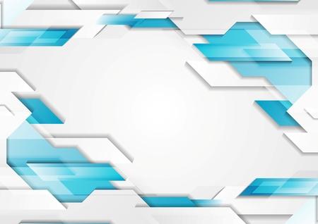 Abstracte geometrische tech corporate achtergrond. Blauwe, witte grijze gradiëntkleuren. Vector illustratie ontwerp