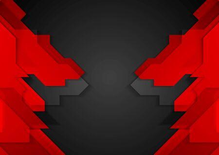 Red black geometric corporate background. Vector design