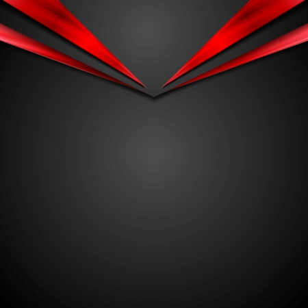 Black red contrast corporate background with abstract arrow. Vector design Vettoriali
