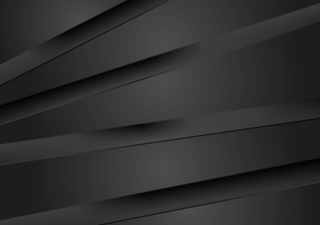 geometric: Abstract dark background with black stripes. Vector design
