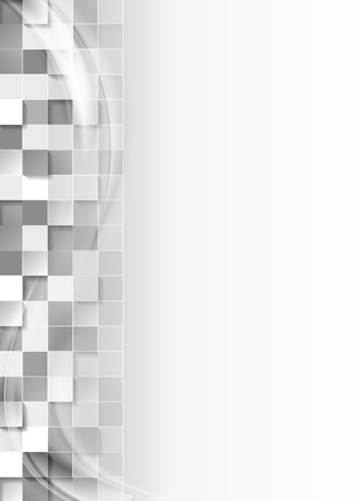 Abstract grey tech squares background. Vector design