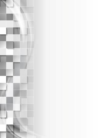 fondo elegante: Resumen de antecedentes cuadrados grises tecnolog�a. dise�o del vector