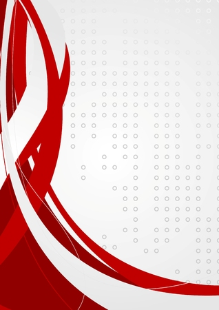background lines: Abstract corporate background with red waves. Vector illustration
