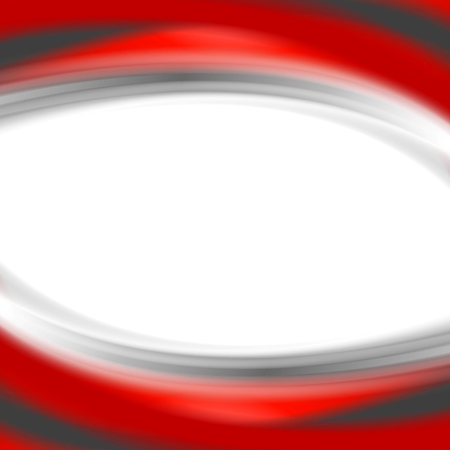 red and white: Grey and red waves on white background. Vector design