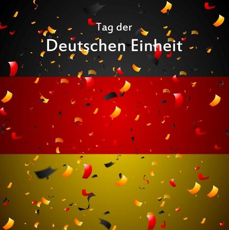 unity: Day of German unity design. Tag der deutschen Einheit. Vector background