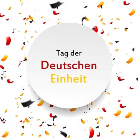ドイツ統一の背景の日。タグ研究 Einheit。ベクトル テンプレート