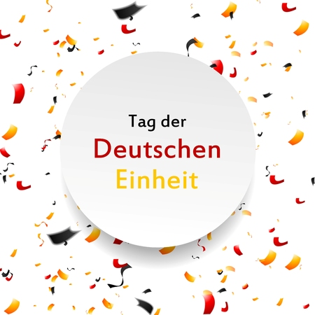 unity: Day of German unity background. Tag der deutschen Einheit. Vector template