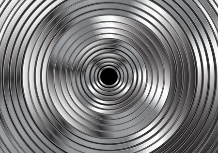 metallic background: Metallic circles abstract design. Vector card background Illustration