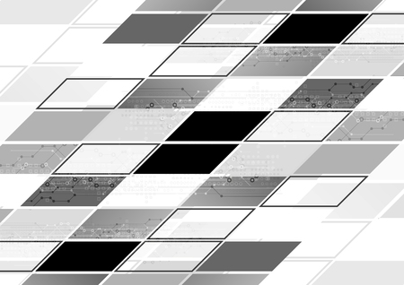 lines abstract: Abstract grey tech geometric corporate background. Vector design