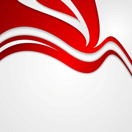 design vector: Abstract red wavy corporate background. Vector design Illustration