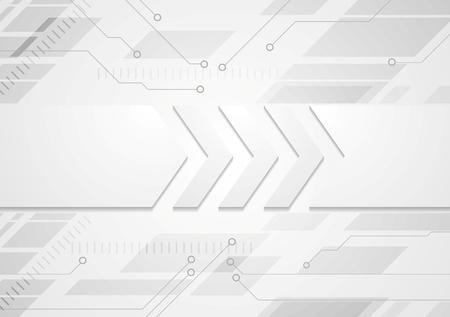 Fondo abstracto gris tecnología con grandes flechas. diseño del vector
