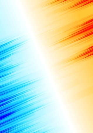 background orange: Orange and blue abstract grunge stripes background. Vector design