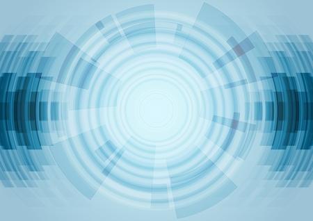 青の抽象的な技術の背景。ベクトル設計図  イラスト・ベクター素材