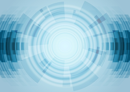 Blue abstract technology background. Vector design illustration Illustration