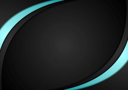 Dark wavy abstract corporate background. Vector design