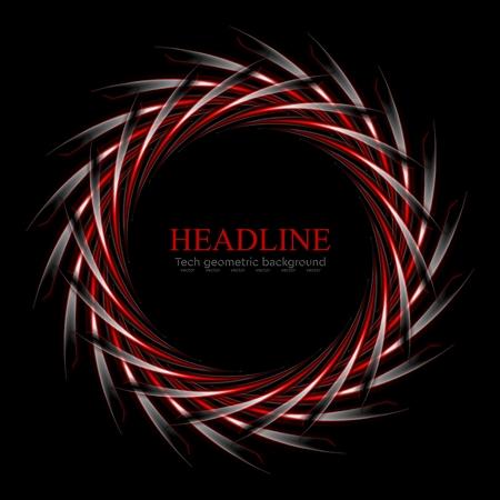 round logo: Dark red and black concept round logo design. Vector background Illustration