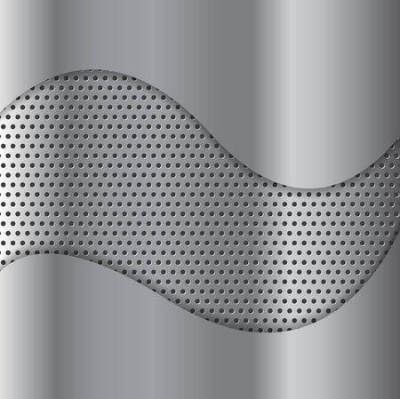 cromo: diseño de metal perforado textura vector abstracto Vectores