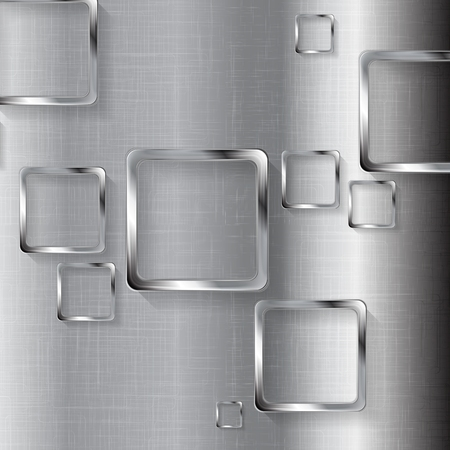 cromo: Metal la tecnología del diseño con cuadrados. Ilustración vectorial
