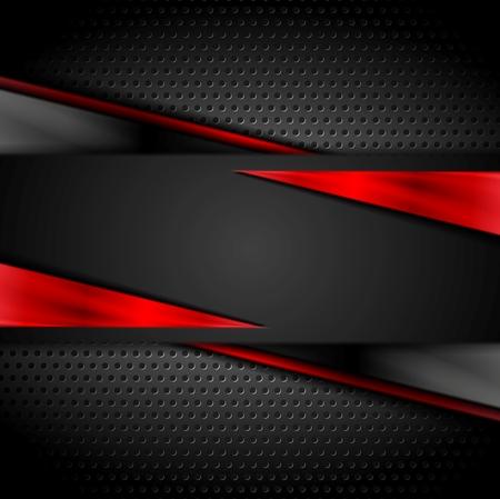 corporativo: Diseño oscuro de la tecnología con textura de metal perforado. Vector de fondo