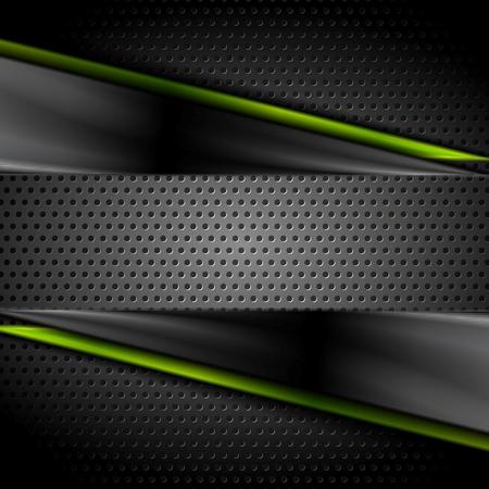 Tech fondo brillante oscuro con textura de metal perforado. Ilustración vectorial Foto de archivo - 46087341