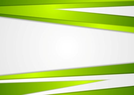 Abstract corporate green stripes concept background. Vector design