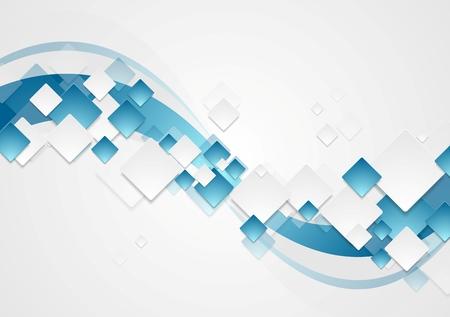 cuadrados: Brillante tecnología ondulado resumen de antecedentes. Diseño vectorial Corporate Vectores
