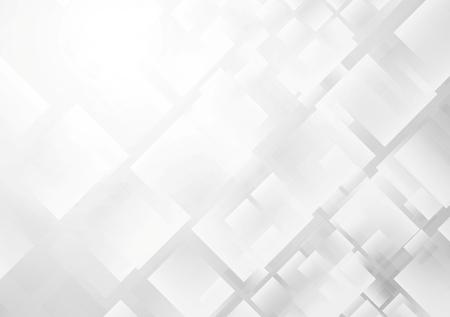 fondo blanco: Tecnología de fondo gris abstracto. Ilustración vectorial