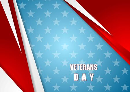 Abstract Veterans Day background. Vector design Illustration