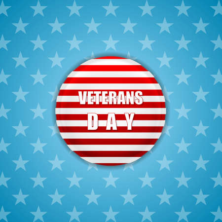 shiny day: Abstract bright Veterans Day background. Vector design