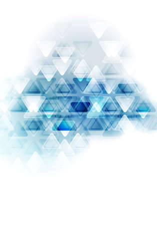 blau wei�: Blue white tech abstract triangles design. Vector background